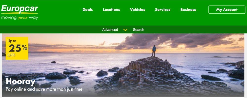 europcar промокод на услуги аренды машин