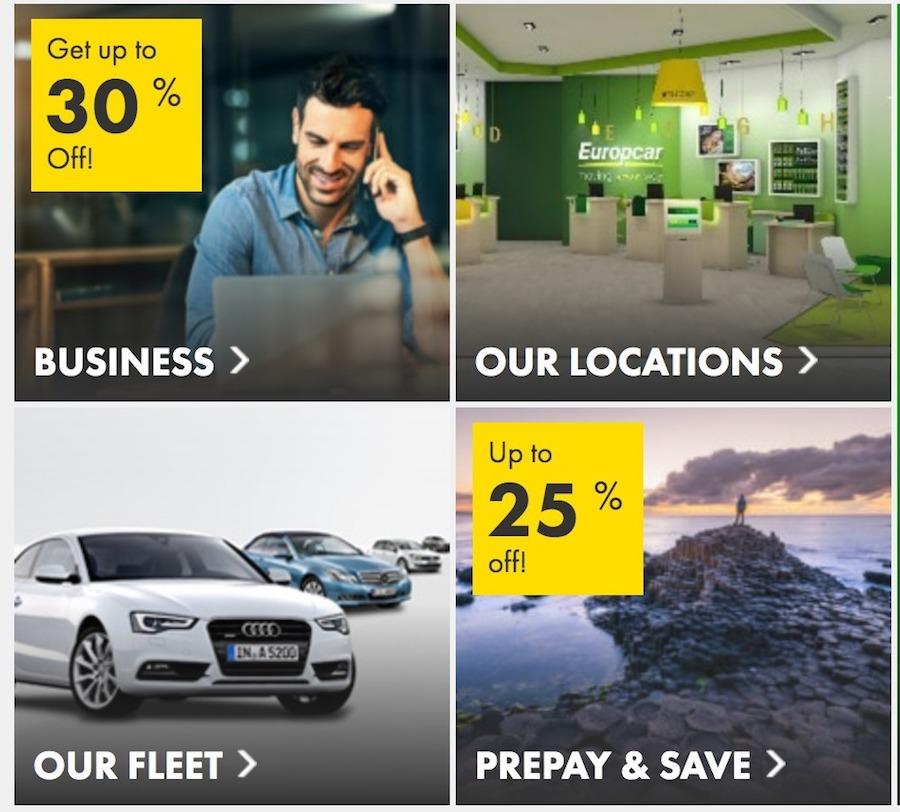 скидкив в europcar
