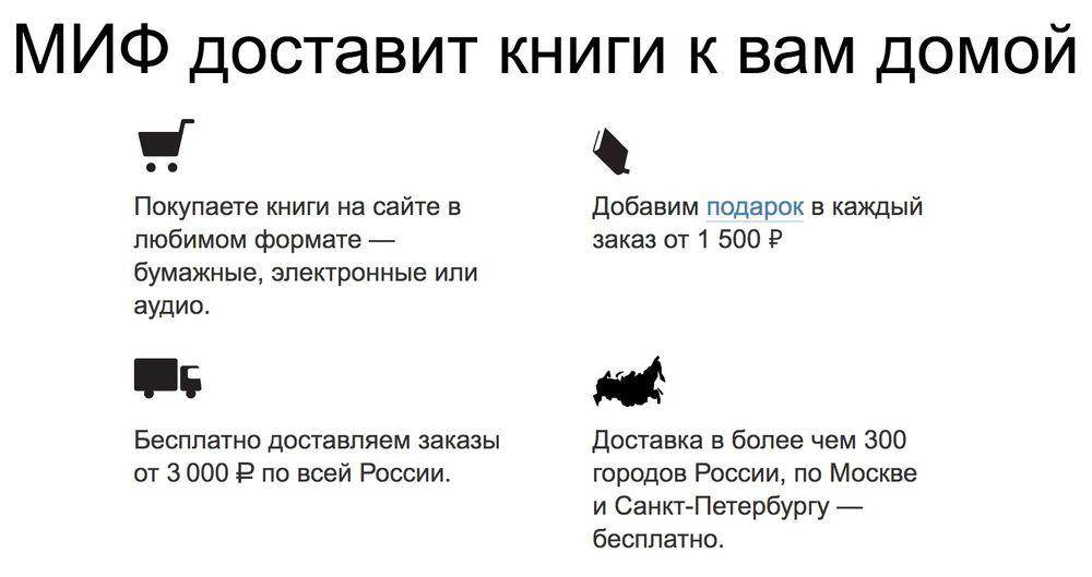 доставка издательство МИФ